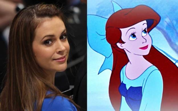 Alyssa Milano la voix d'Ariel la petite sirène et Ariel