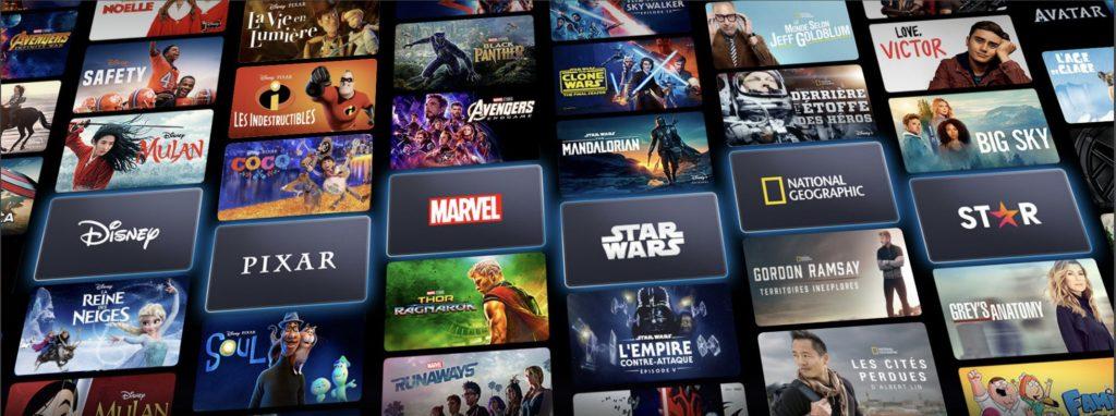 Les six univers de Disney plus Capture d'écran