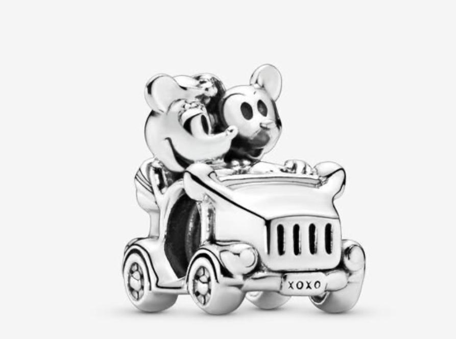 charm Pandora x Disney Mickey et Minnie en voiture
