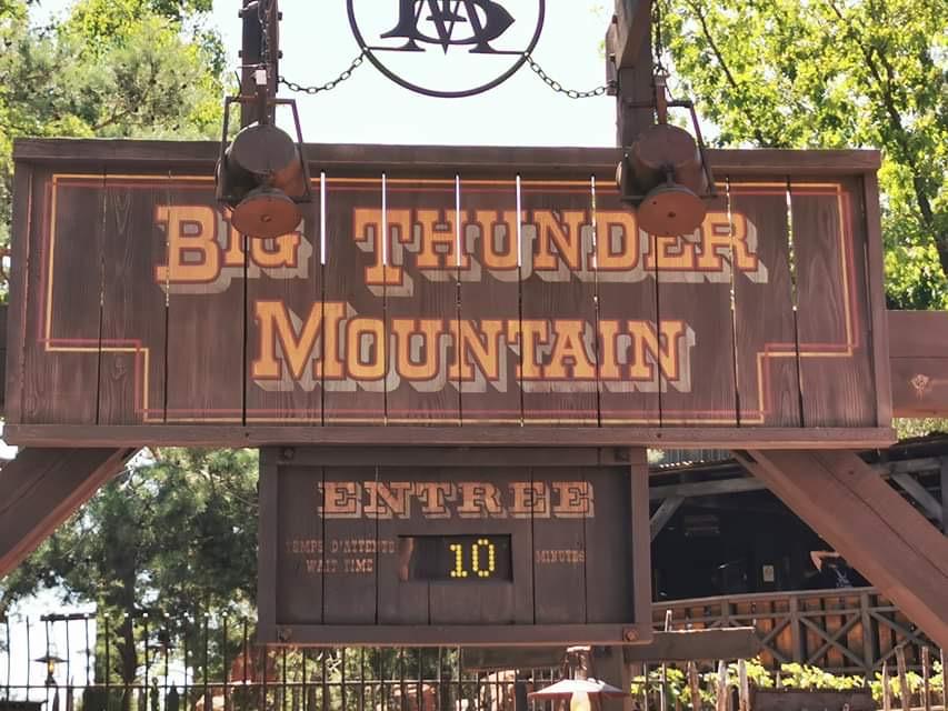 LE big Thunder Mountain n'affiche que 10mn d'attente