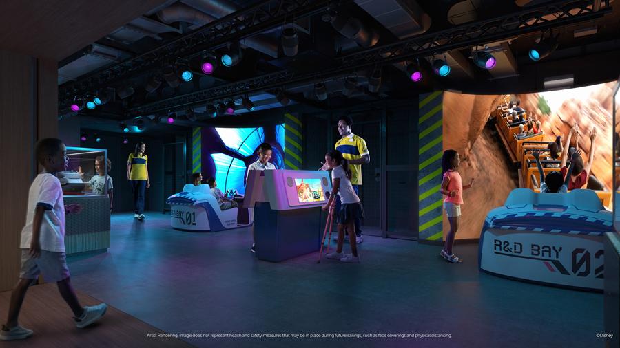 Espace dédié à Imagineering sur le Disney Wish