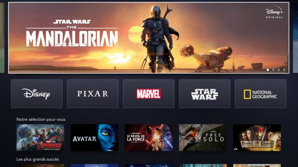Capture d'écran de Disney Plus