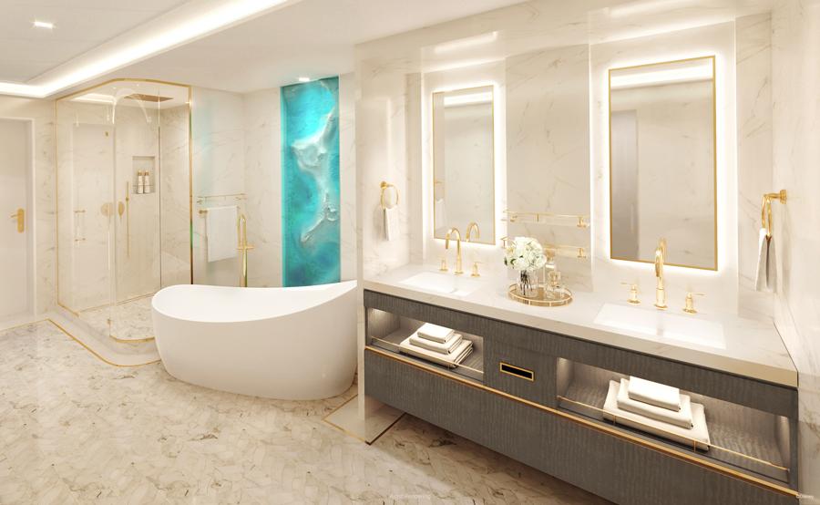 Salle de bain Wish Tower Suite Disney Wish
