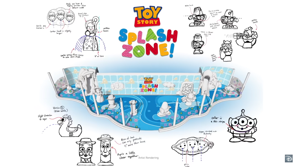 Dessin de Toy Story Splash Zone
