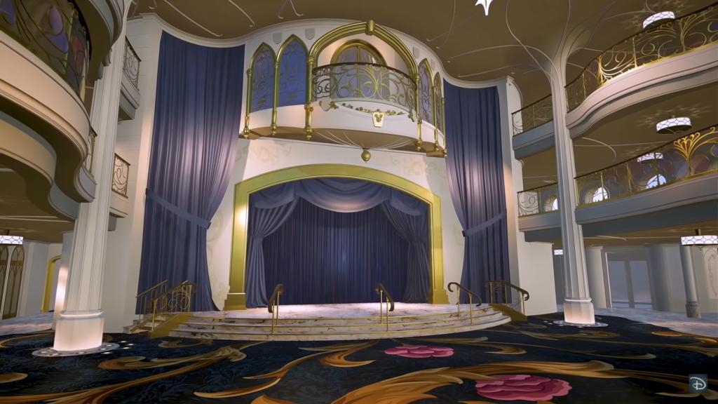 Le théâtre du Grand Hall du Disney Wish