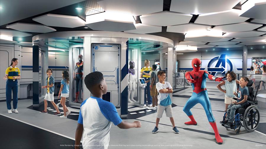 Marvel super hero academy sur le disney wish