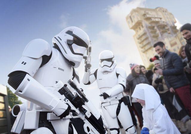 Rencontre avec les stormtroopers pendant la Saison de la Force