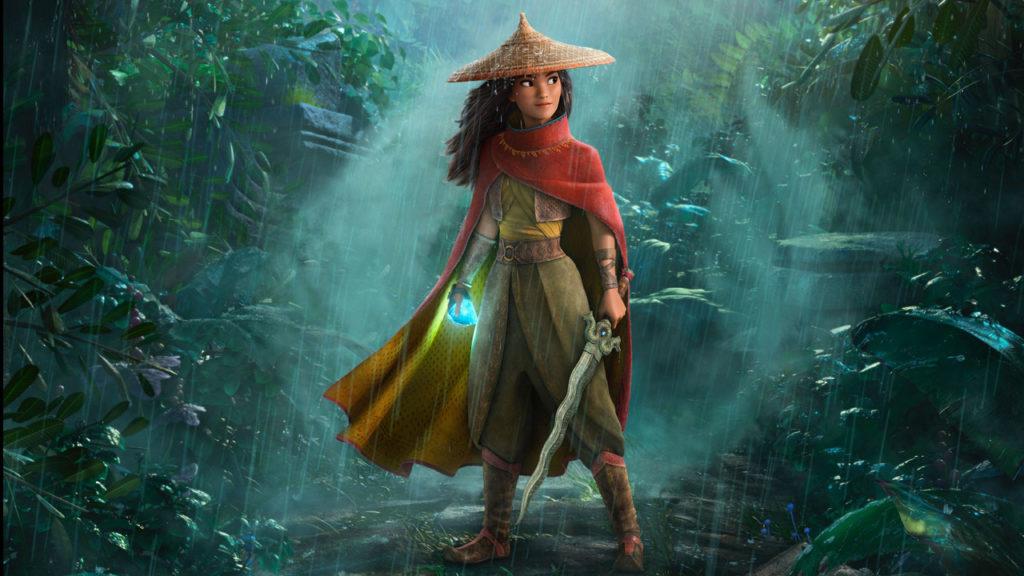 Raya et le dernier dragon, Raya tient l'épée de son père.
