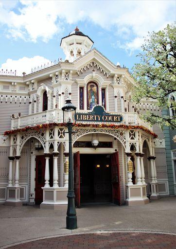 L'entrée de Liberty Court sur Main Street U.S.A.