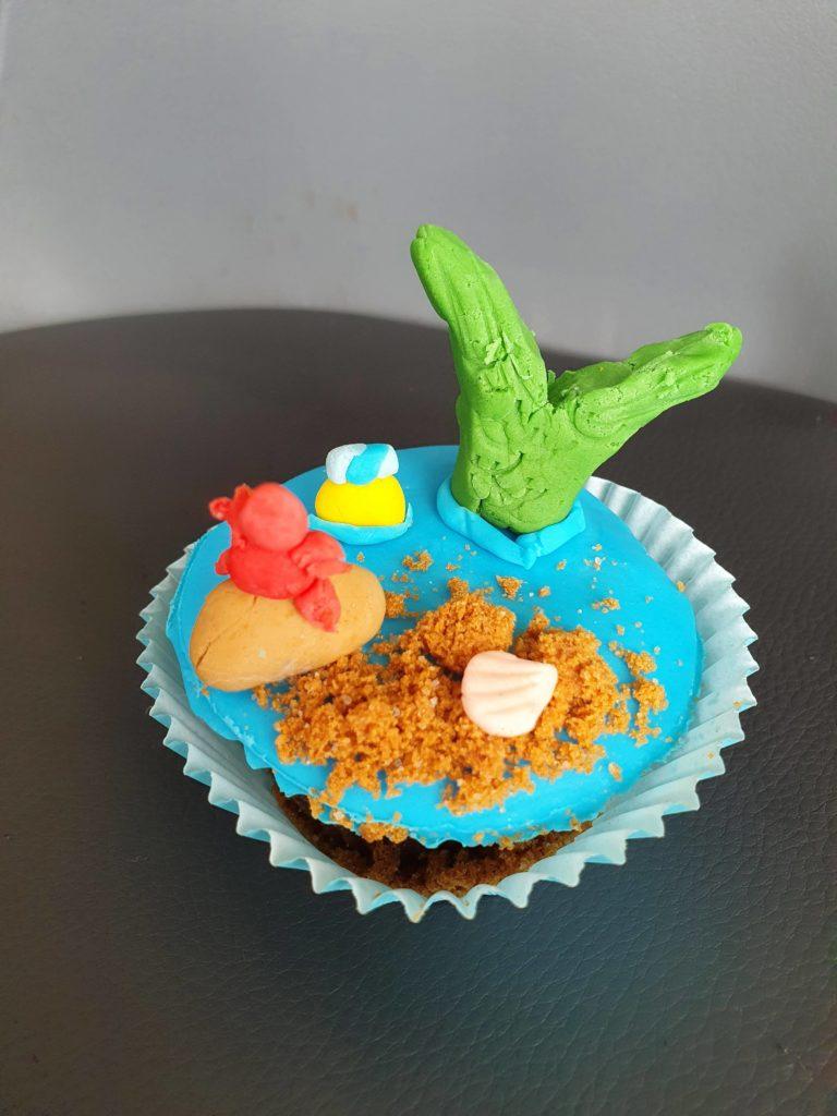 Le cupcake Ariel terminé